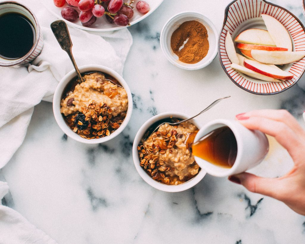 Self-care starts in the morning by eating a healthy breakfast